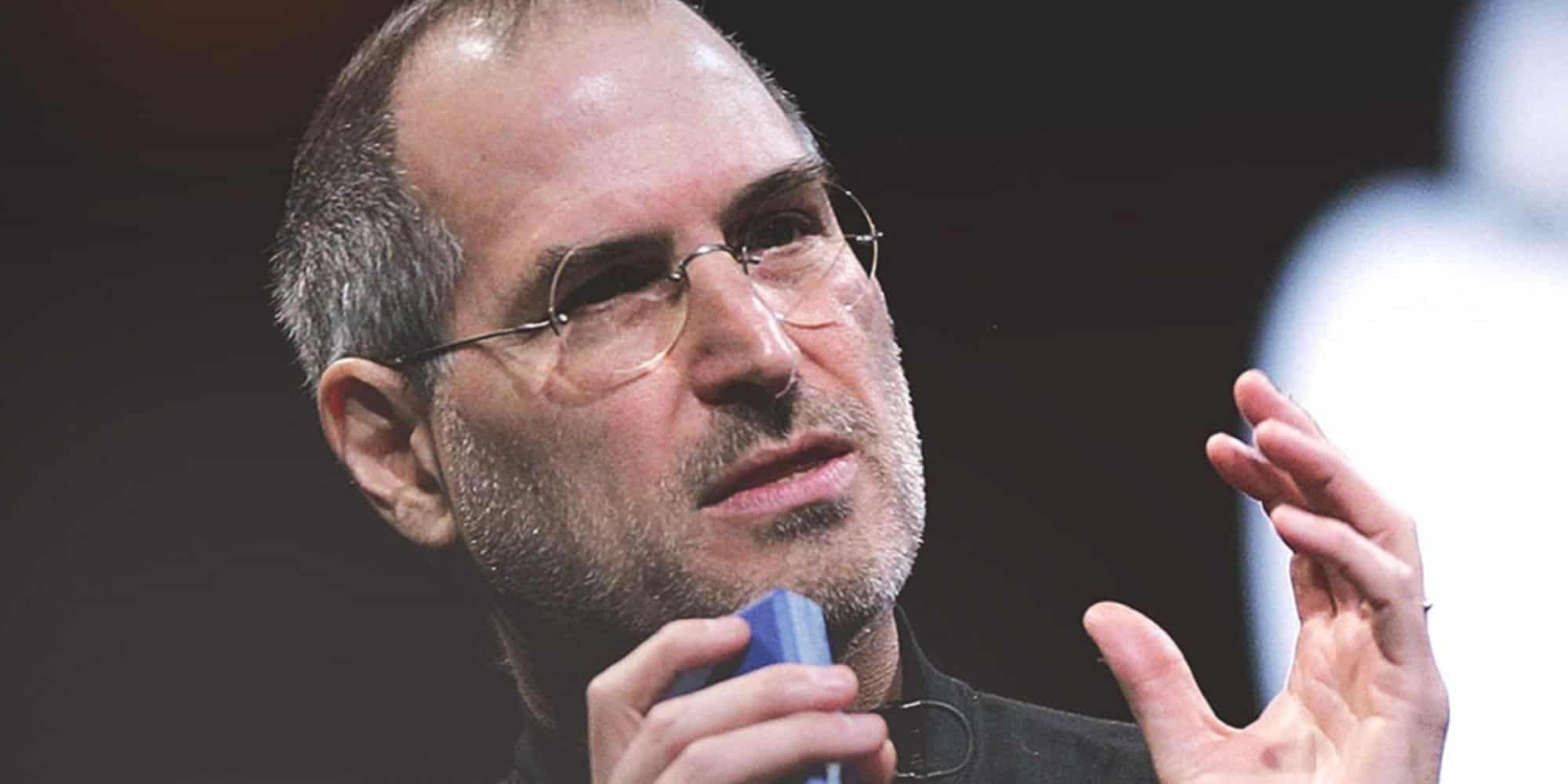 Steve Jobs speaking at an event