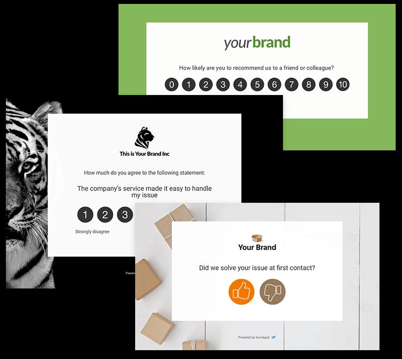 Three examples of customer service surveys