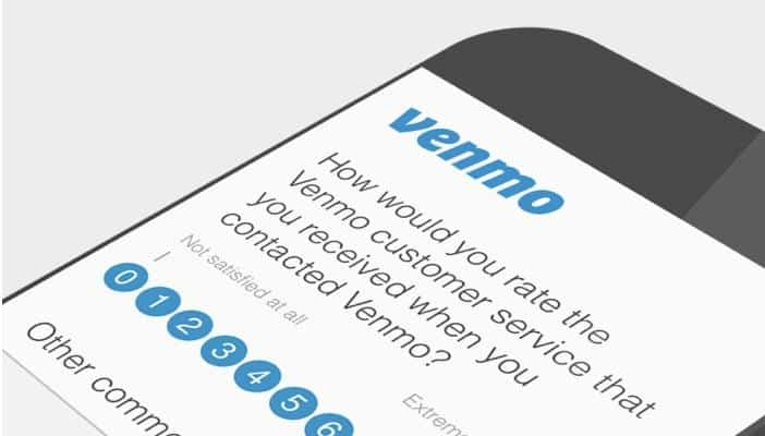 Venmo customer service survey